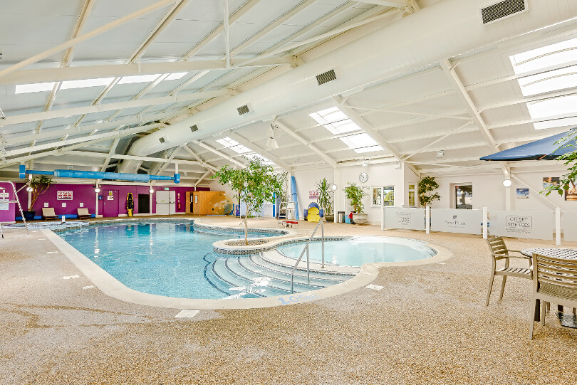 Photo of the indoor swimming pool at New Pines Holiday Home Park