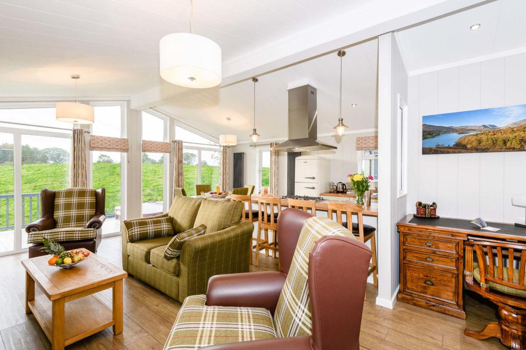 Interior shot of a lodge at Keswick Reach
