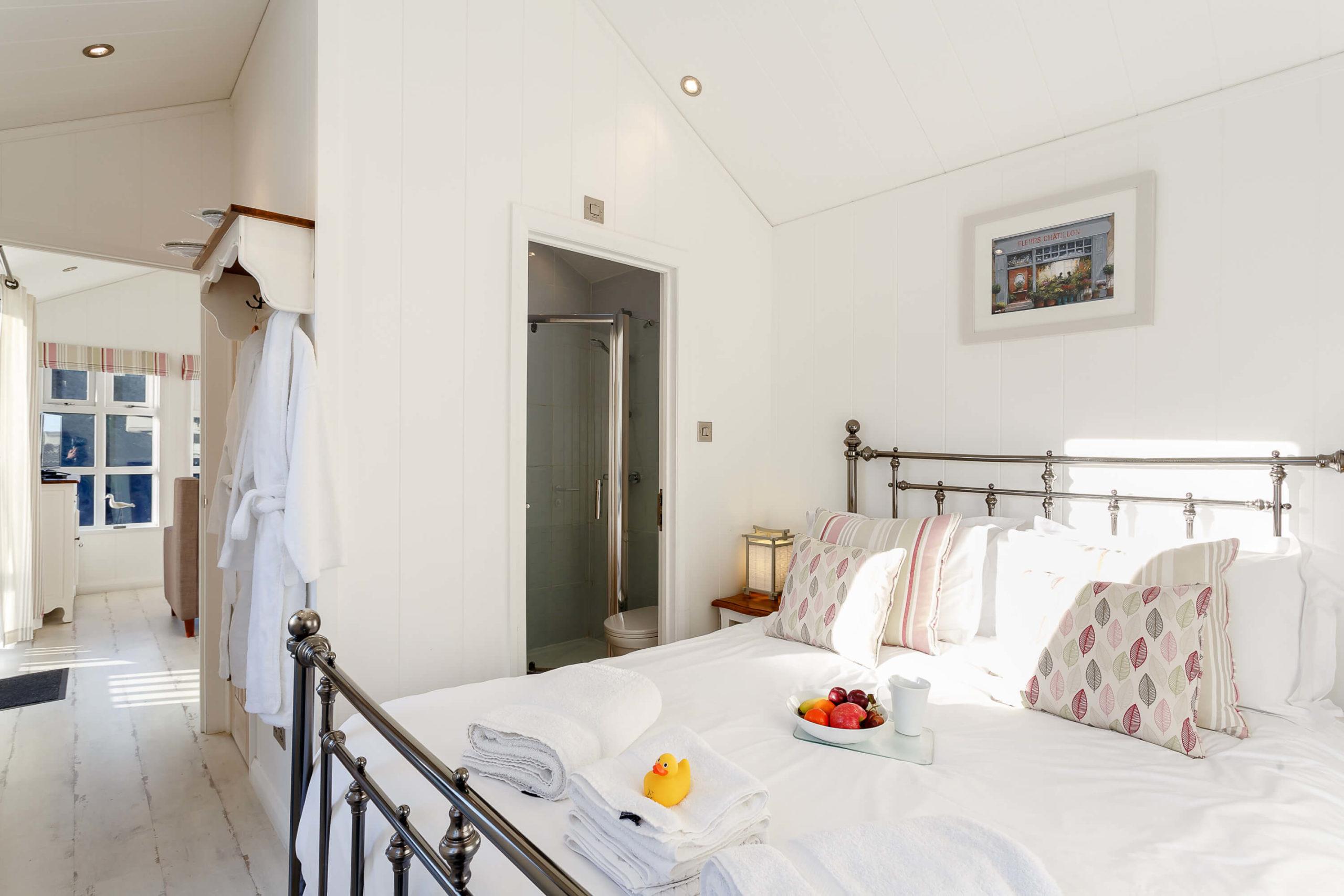 Interior shot of a bedroom at Beach cove