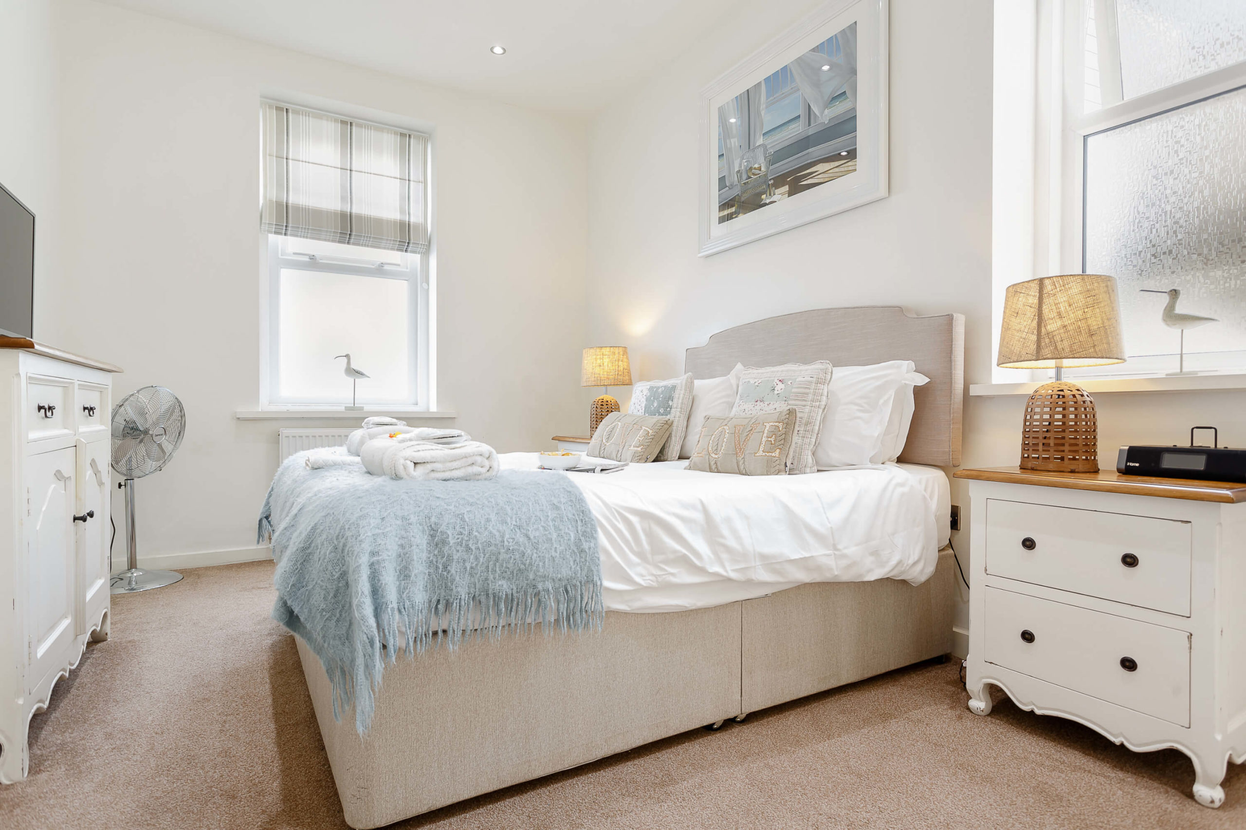 Interior shot of a bedroom in an apartment at beach cove