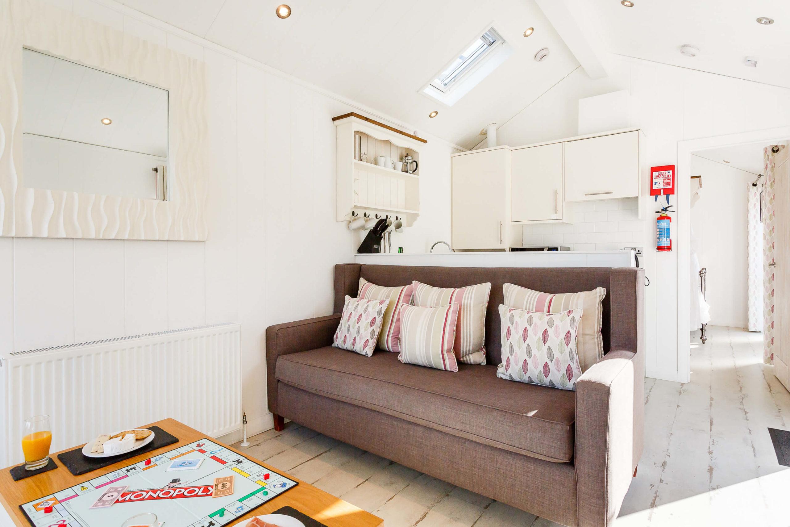Interior shot of a lounge in a beach hut