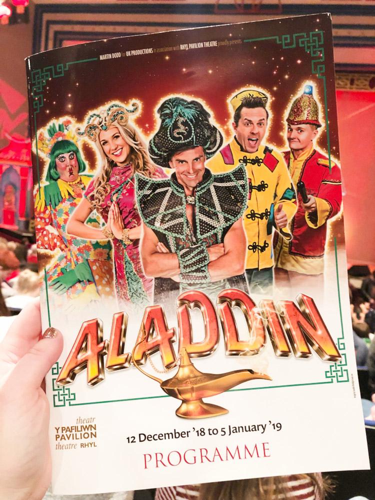 Photo of the Aladdin Pantomime brochure