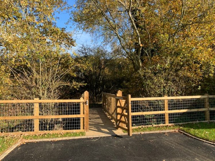 Fence and gate at Norfolk Woods