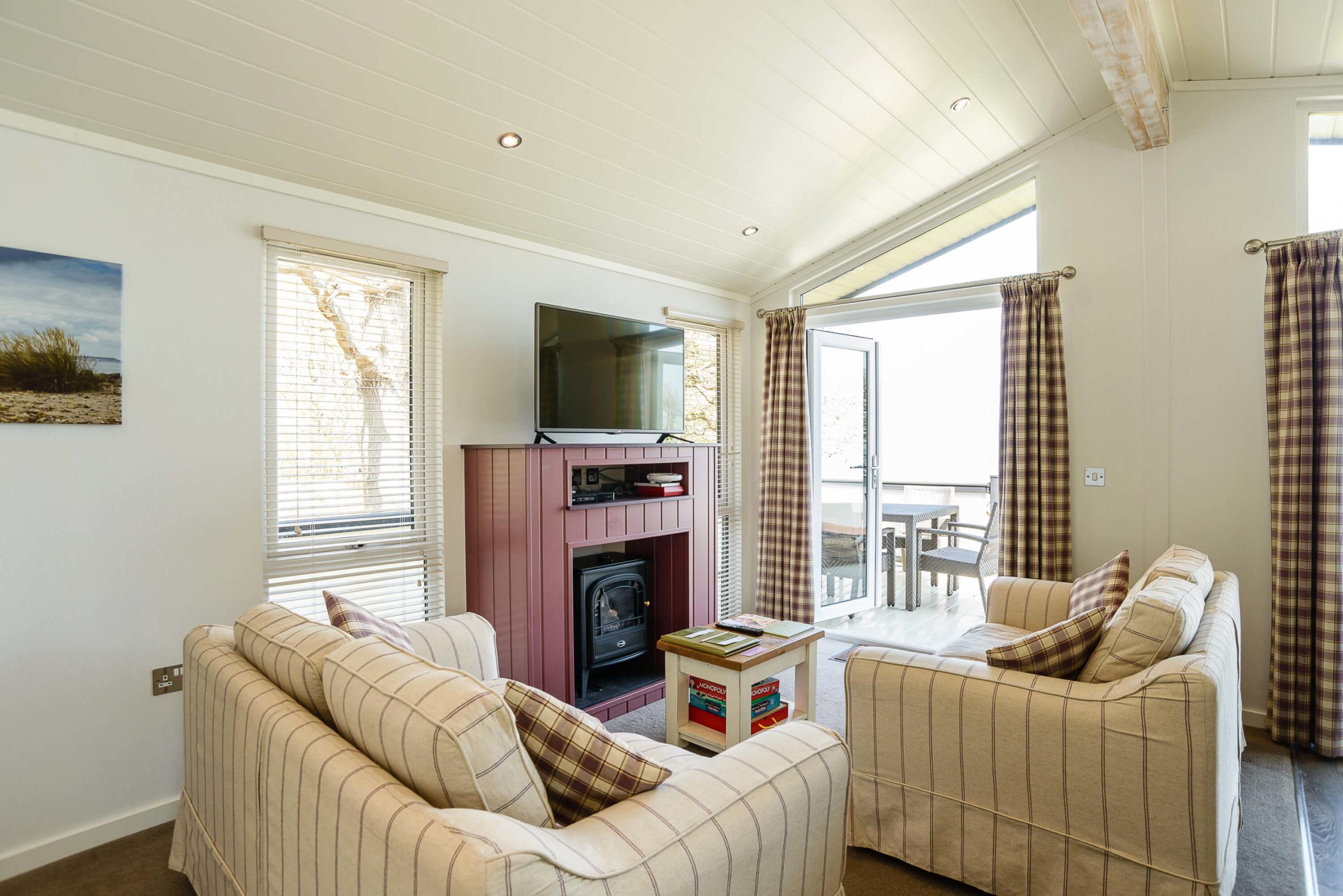 Interior shot of a Woodside Coastal lodge lounge
