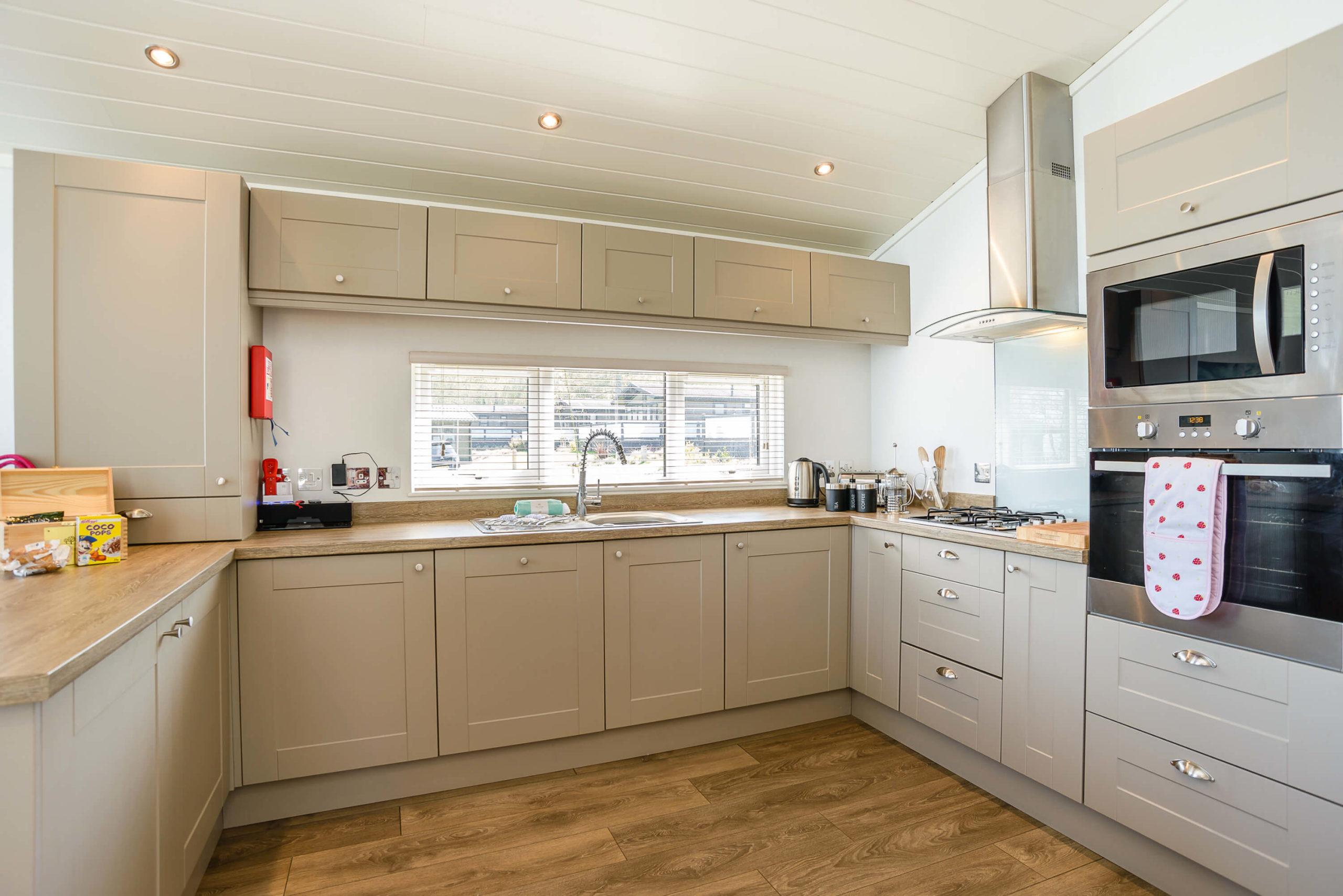 large open plan kitchen area