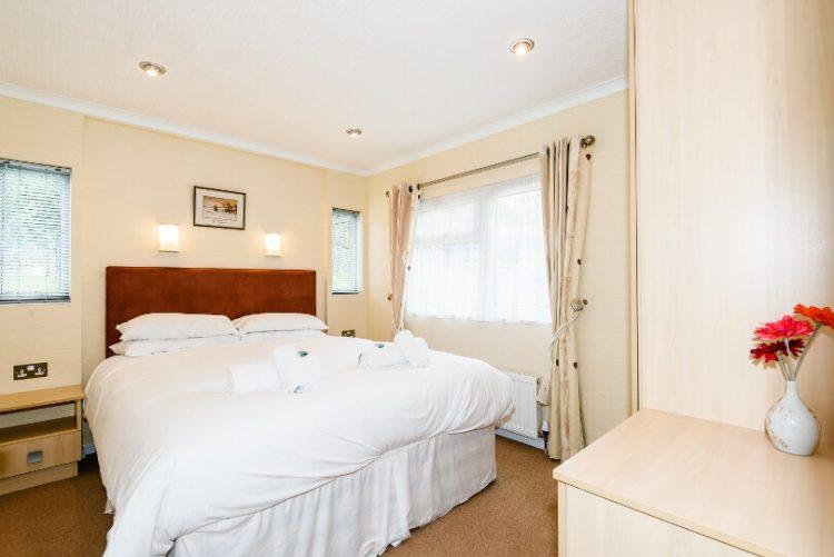 double bed in bedroom