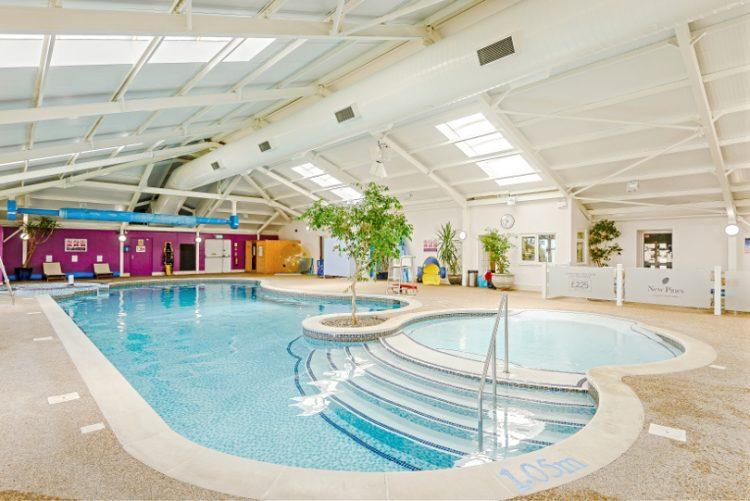 Interior shot of the swimming pool at New Pines