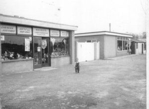 Photo of the old shops at Talacre Beach