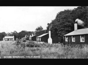 Old photos of houses at Talacre Beach
