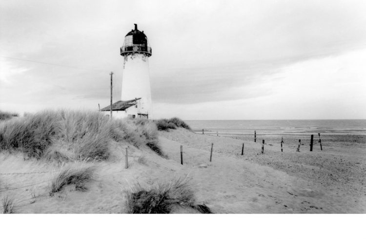 Old photo of Talacre lighthouse