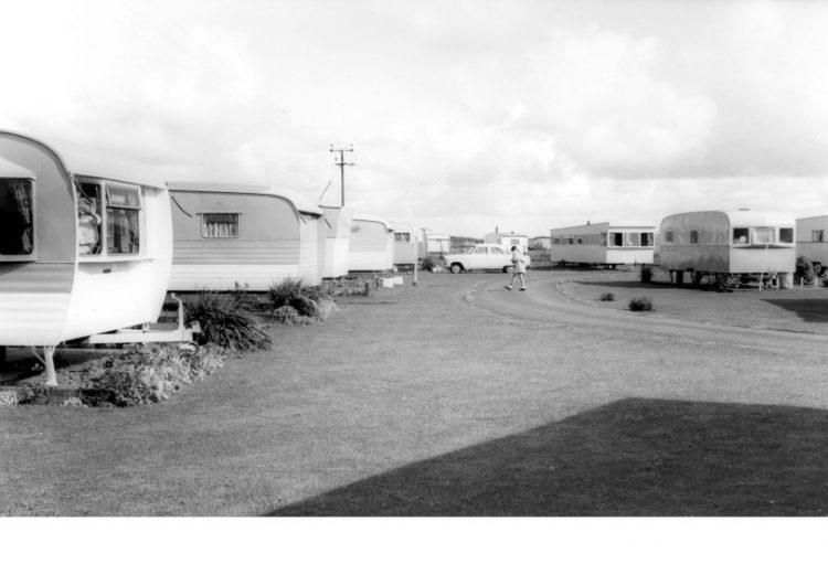 Photo of old caravans at Talacre Beach