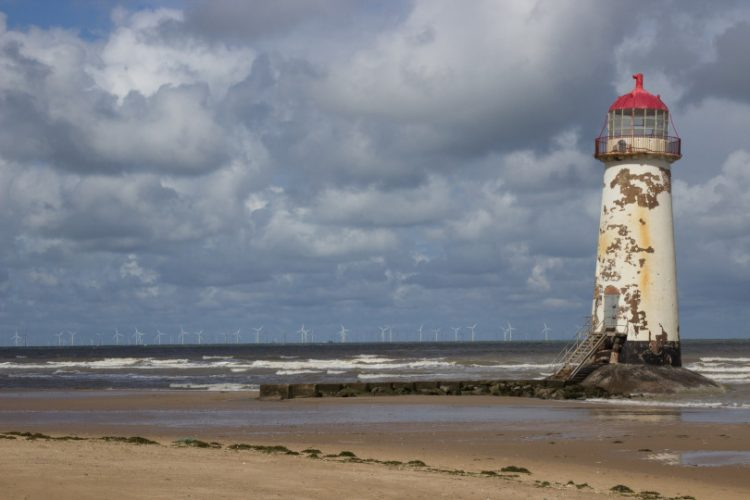 Photo of the Talacre lighthouse before refurbishment
