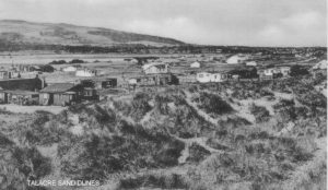 Old photo of the sand dunes at Talacre