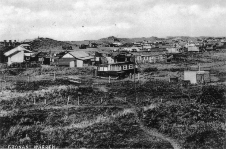 Old photo of the houses at Talacre
