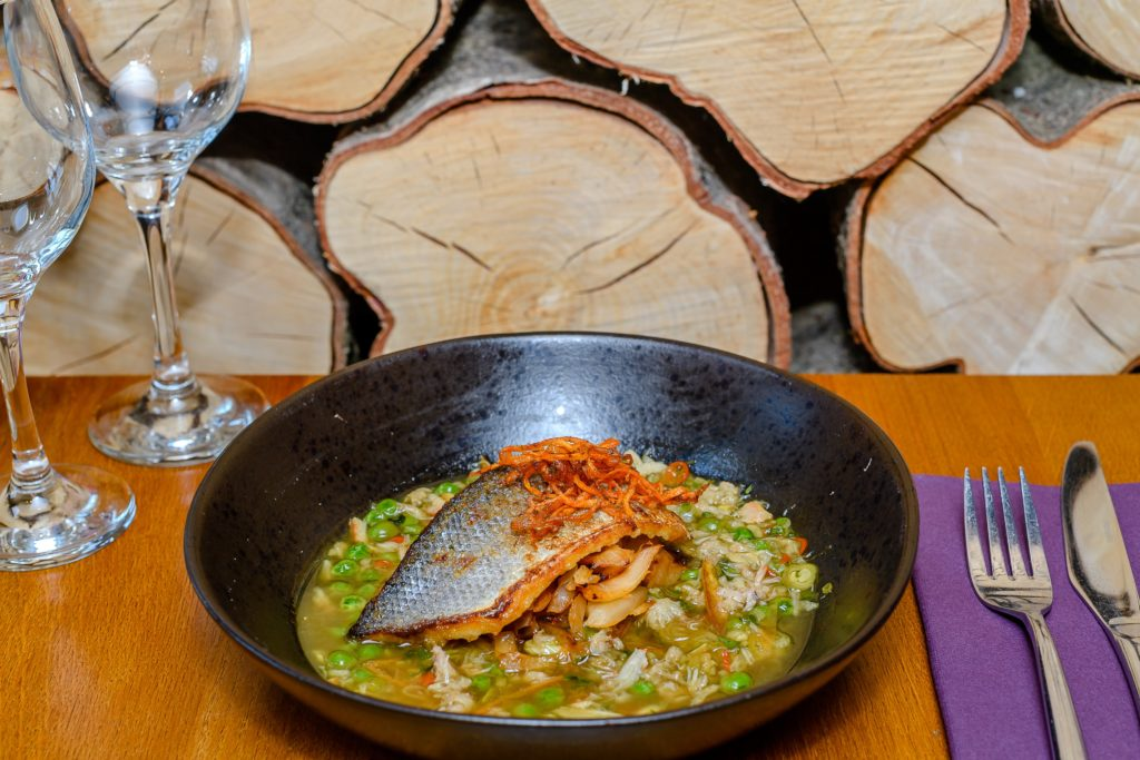 Photo of a fish dish available at the bistro at Hawkchurch