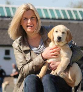 Sarah Stirk and dog