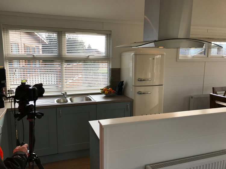 Interior shot of a kitchen in a lodge at Canterbury Reach