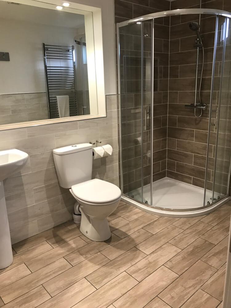 Interior shot of a Canterbury Reach lodge bathroom