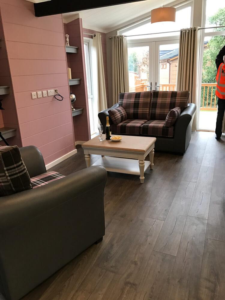 Interior shot of a Canterbury Reach lodge lounge