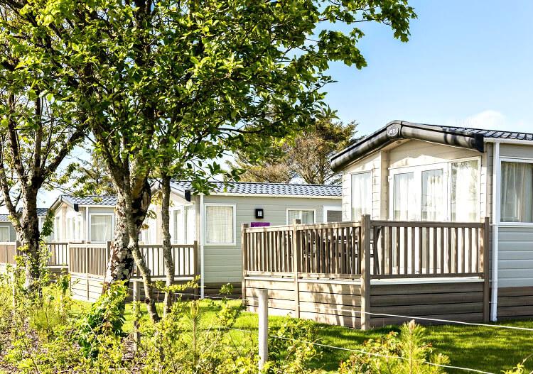 Photo of the holiday homes at Piran Meadows