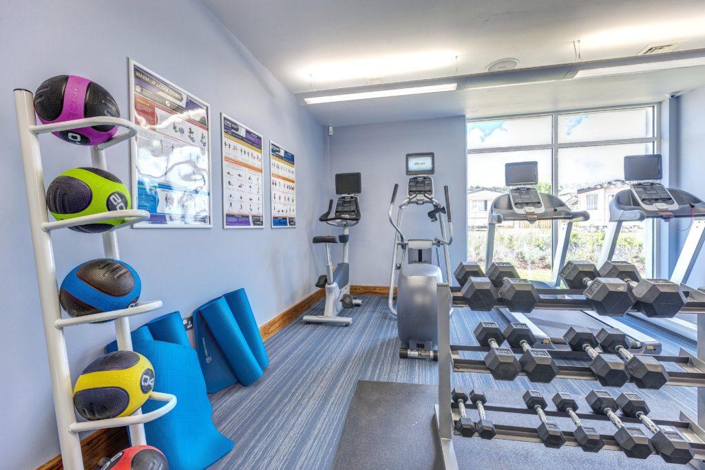Interior shot of the gym at Piran Meadows