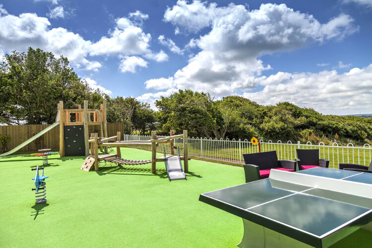 Photo of the play area at Piran Meadows