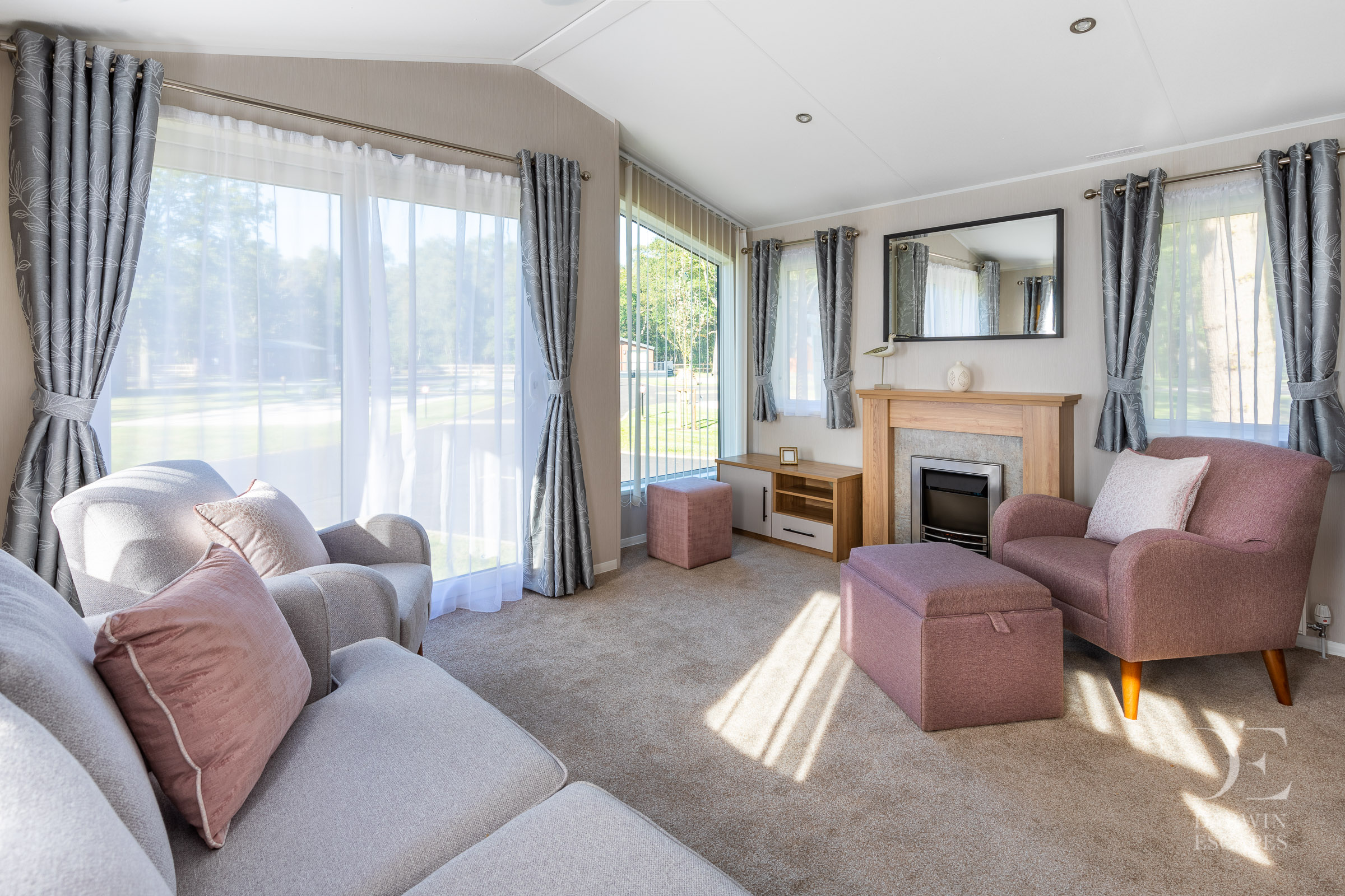 Interior shot of the lounge in the Willerby Waverly