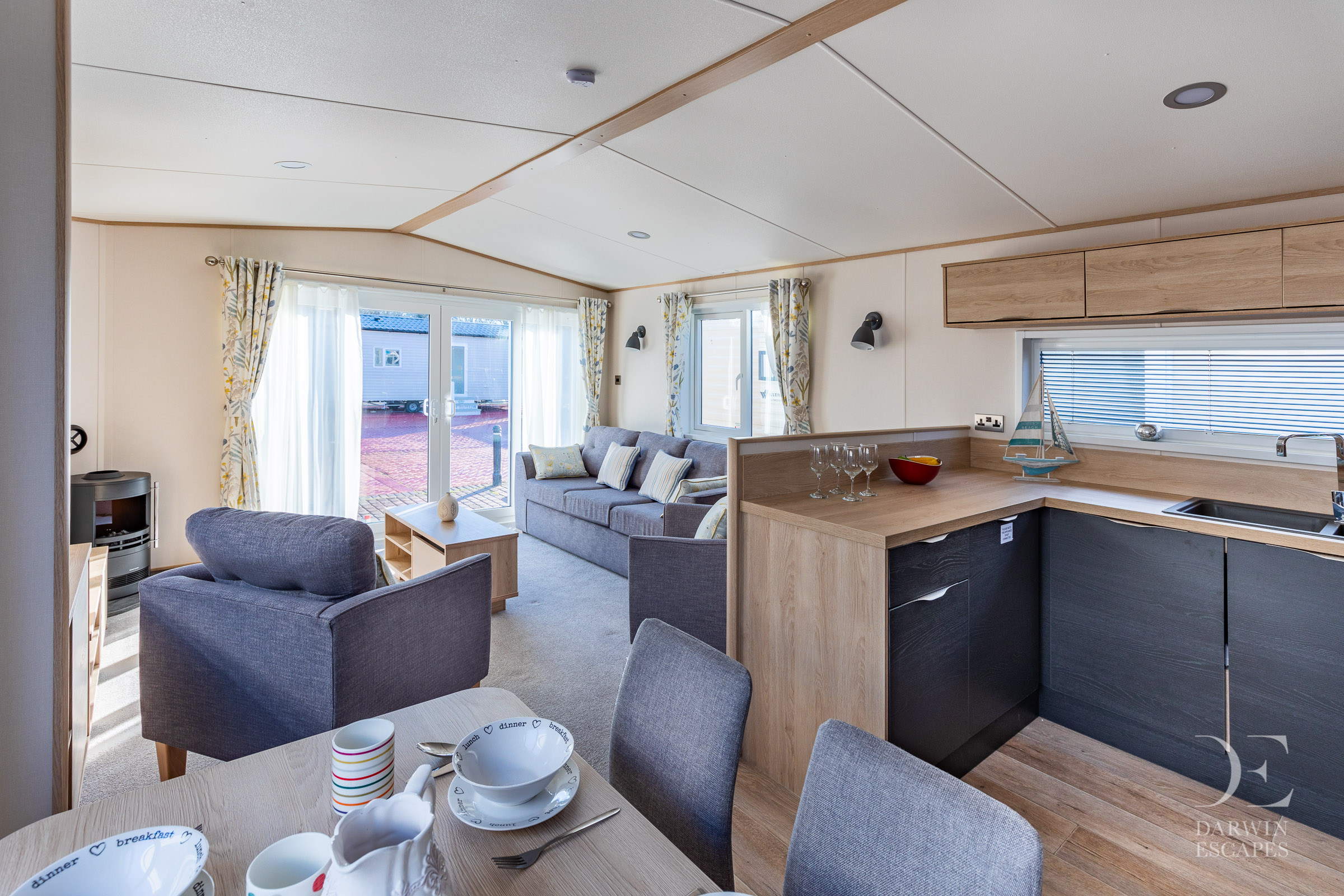 Interior shot of the open pla living area in the ABI Langdale