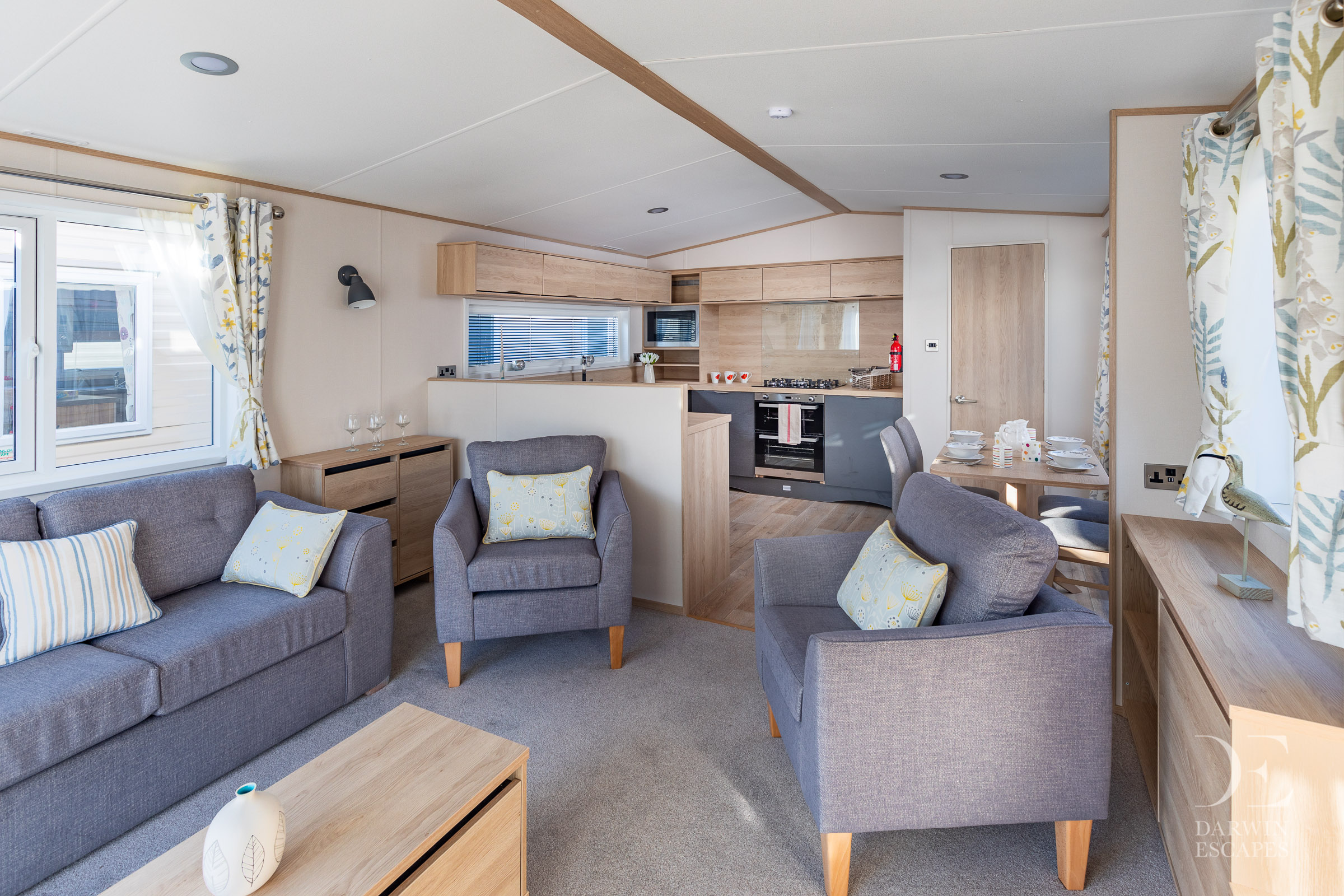 Interior shot of the open plan living area in the ABI Langdale