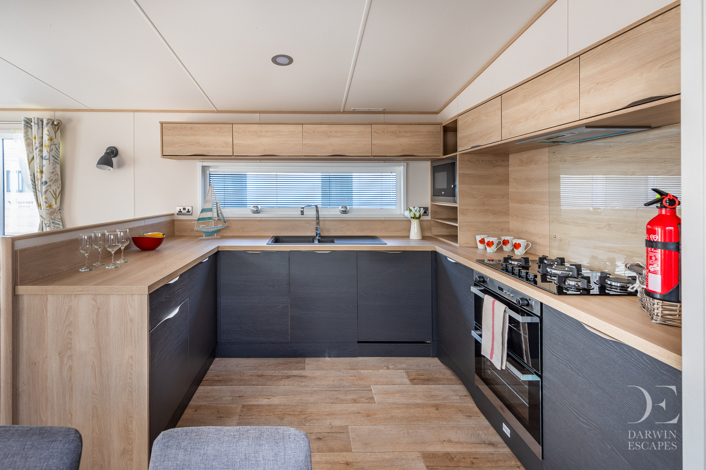 Interior shot of the kitchen in the ABI Langdale