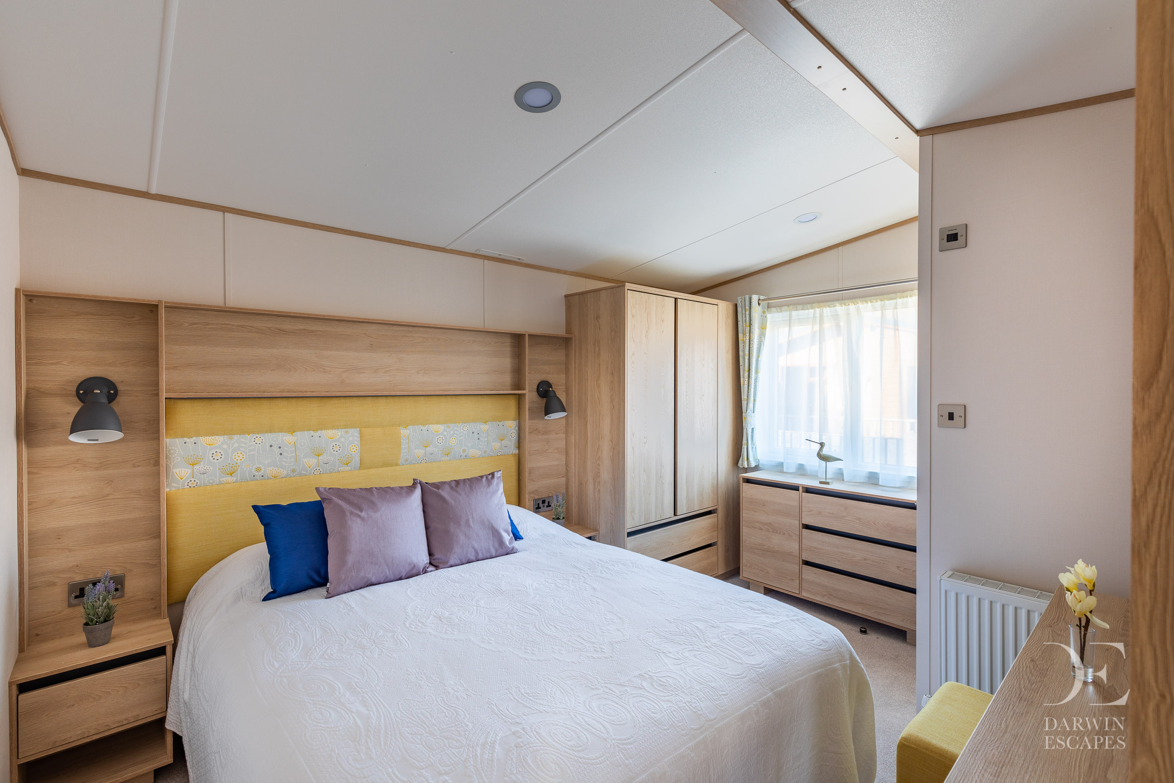 Interior shot of the bedroom in the ABI Langdale