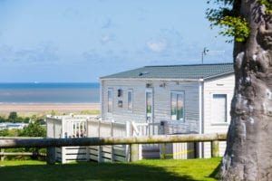 Exterior shot of a holiday home and views at Seaview Holiday Home Park