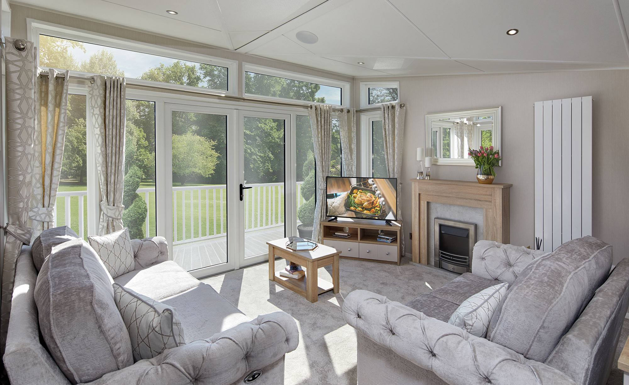Interior shot of the lounge in the Willerby Vogue Classique