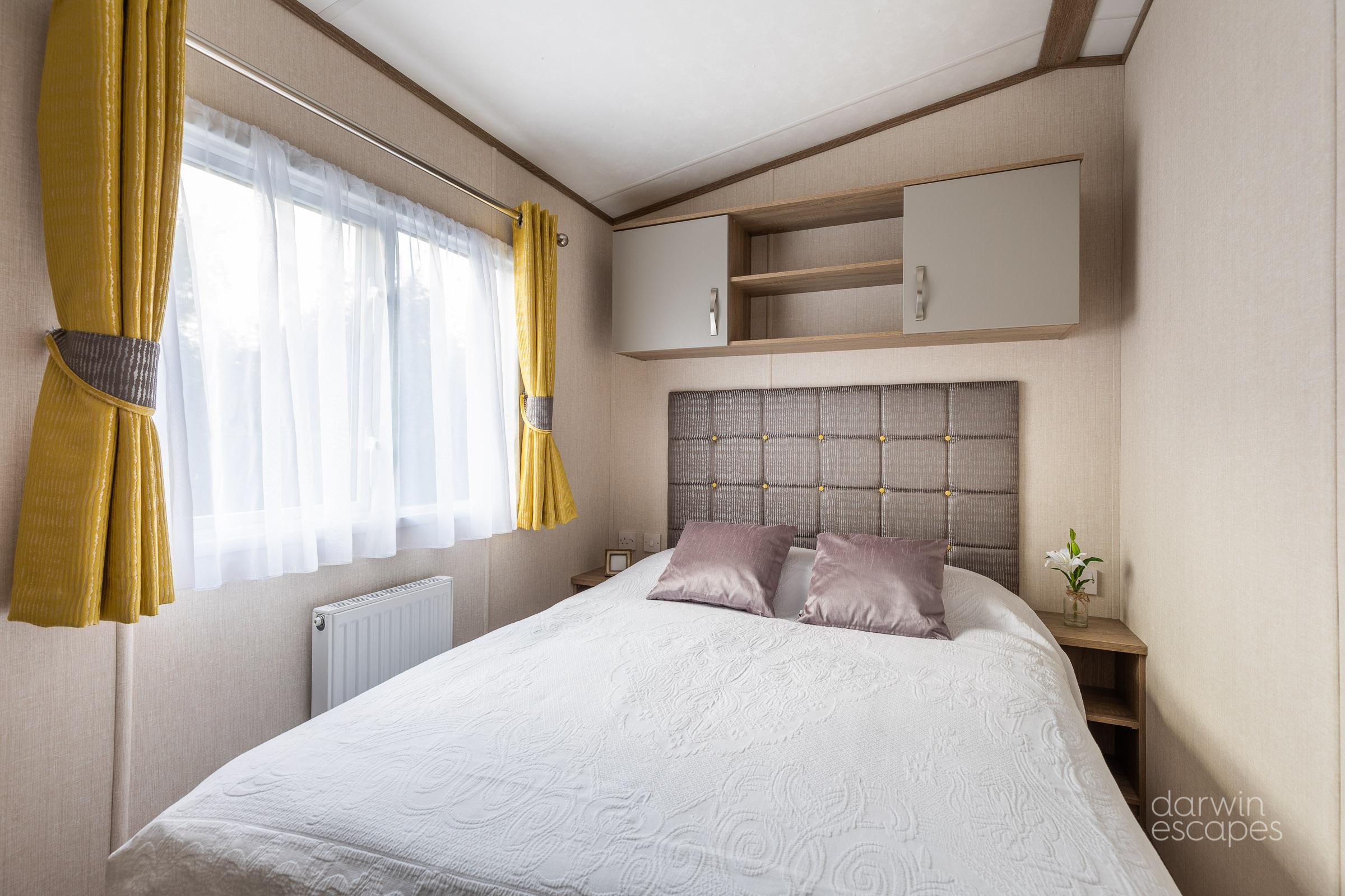 Interior shot of the master bedroom Carnaby Oakdale static caravan