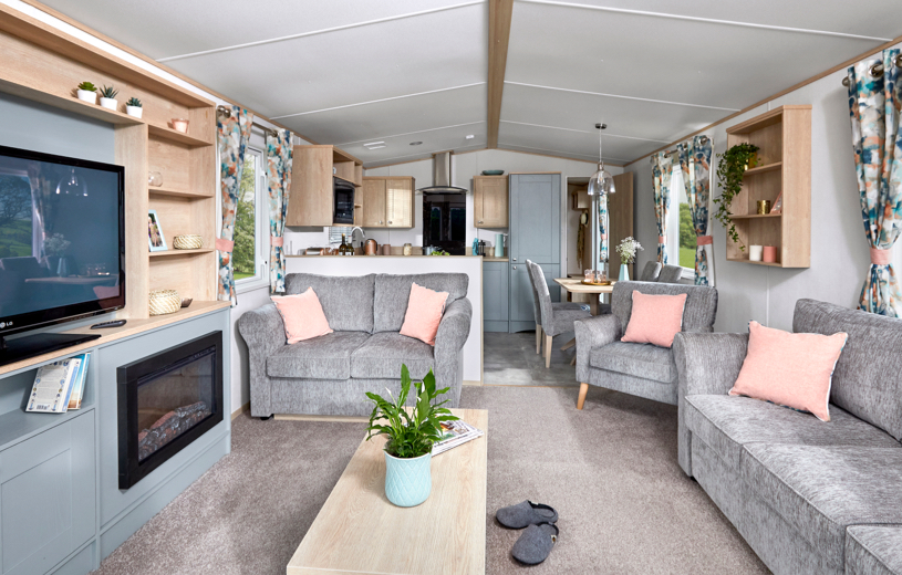 Interior shot of the open plan living area in the ABI Roecliffe