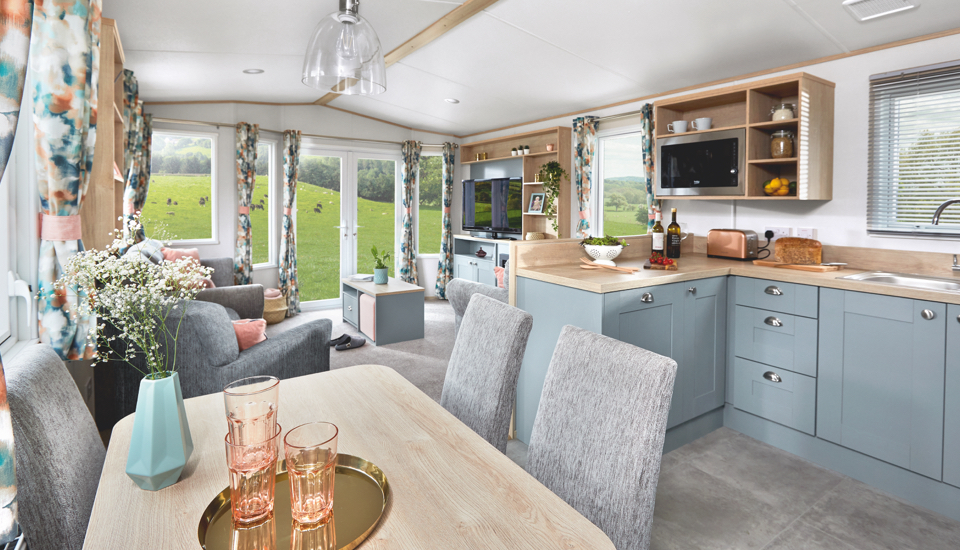 Interior shot of the dining area and lounge in the ABI Roecliffe