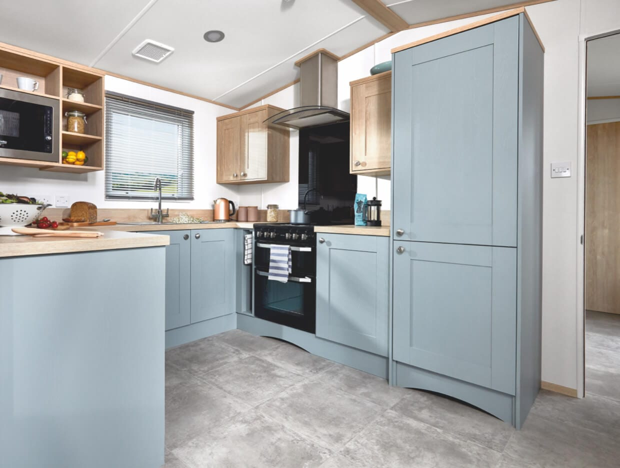 Interior shot of the kitchen in the ABI Roecliffe
