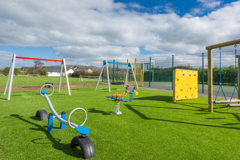 outdoor play ground for children in the sun