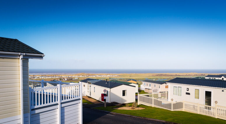 Seaview Holiday Home Park with views into the distance