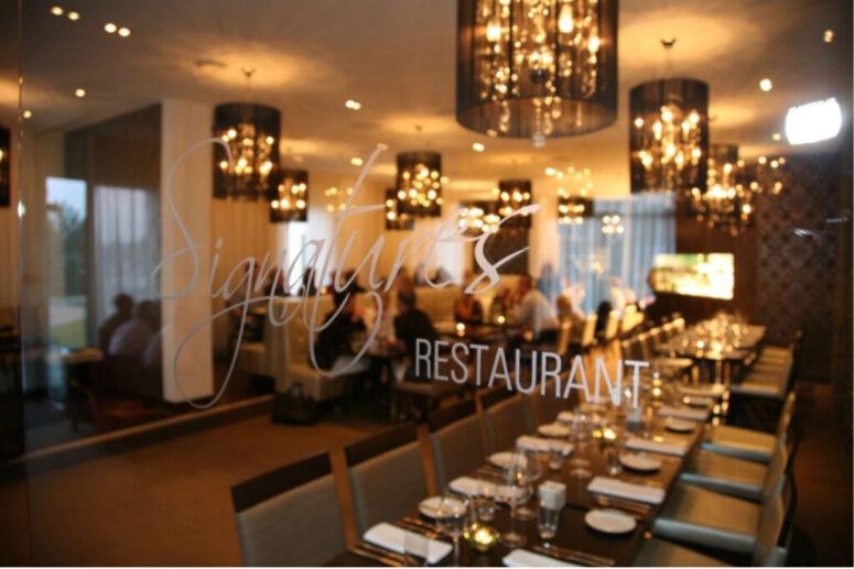 Signatures Restaurant dining